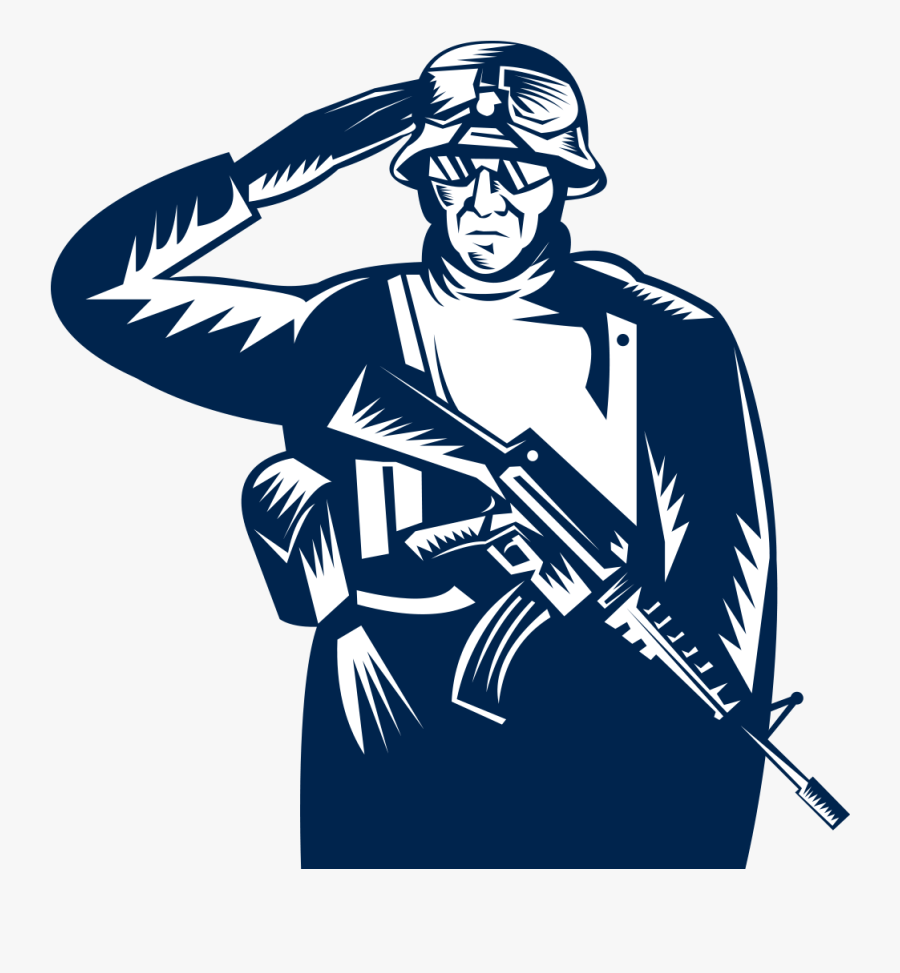 Veterans Day Salute Stock Photography Clip Art.