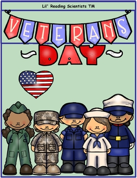 Veterans Day Kit for Kindergarten and First Grade.