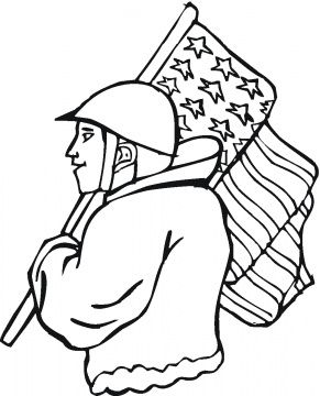 Veterans Day Coloring Pages.