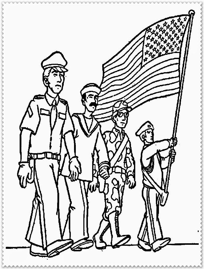 Veterans Black And White Clipart.