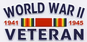 World War II Veteran Decal.