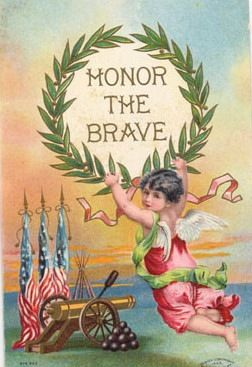 Free Vintage Post Cards for Memorial and Veterans Day.
