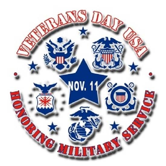 Honoring Military Service Veterans Day 2014 Clip Art Images.
