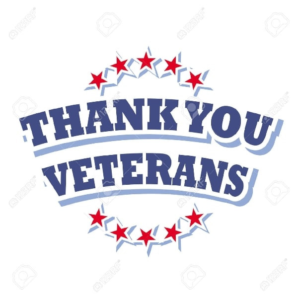 Black and White Veterans Day Clipart for Facebook.