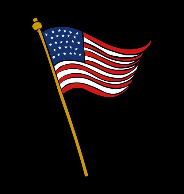 Veterans day flag clip art.