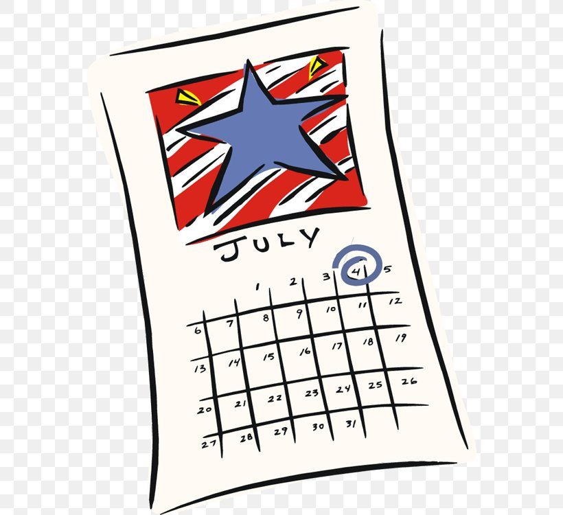 Independence Day July Calendar Clip Art, PNG, 568x750px.