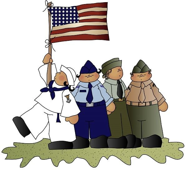 Veterans Day clipart and graphics.