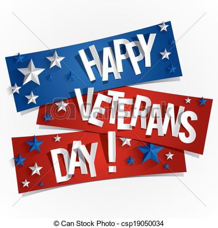 Happy veterans day clip art.