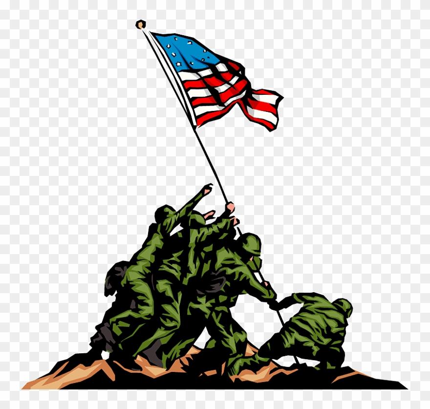 Happy Veterans Day Cliparts Black & White.