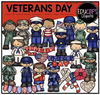 Veterans Day Clip Art Bundle {Educlips Clipart}.