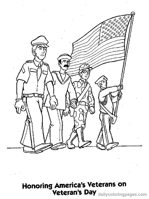 Veterans Day Clipart To Color.