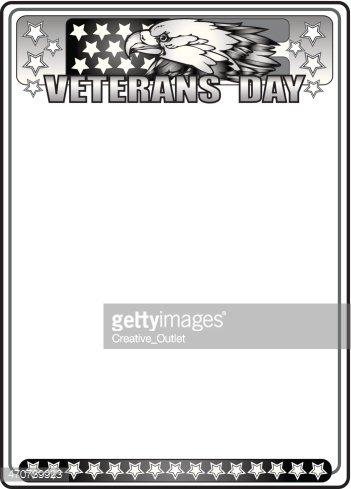 Veterans Day Frame Clipart Image.