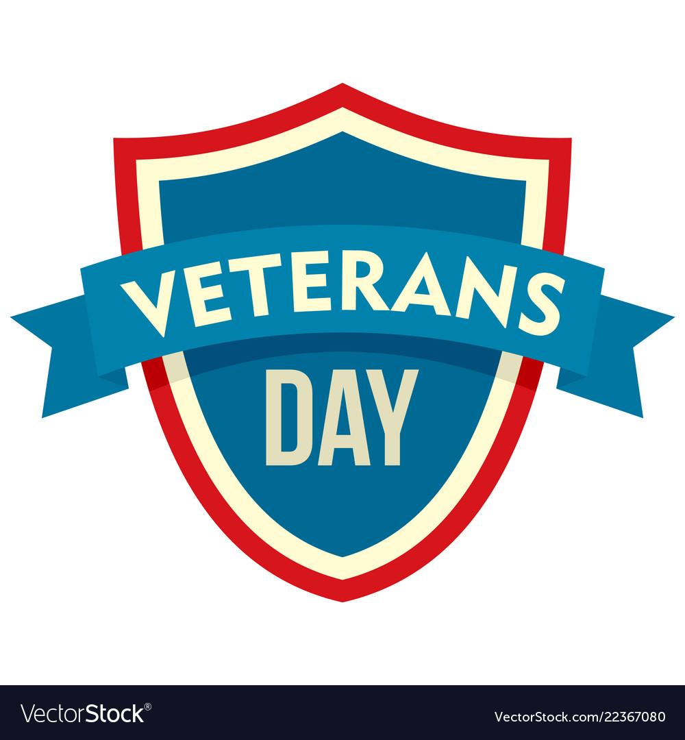 Parade veterans day logo flat style.