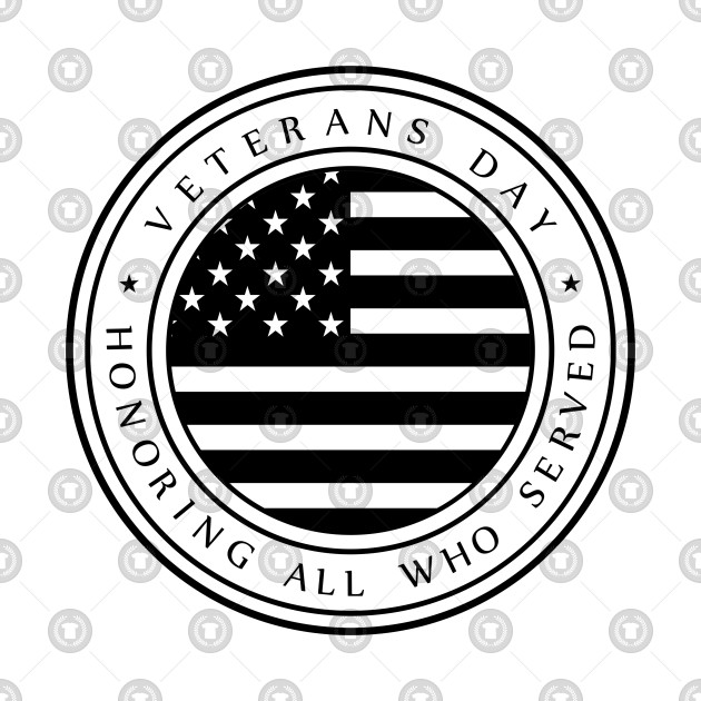Veterans Day Logo American Flag.