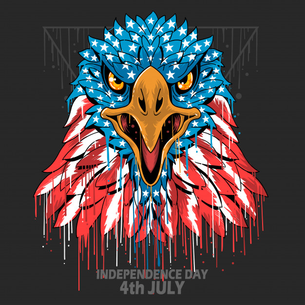 Eagle head america usa flag independence day, veterans day.