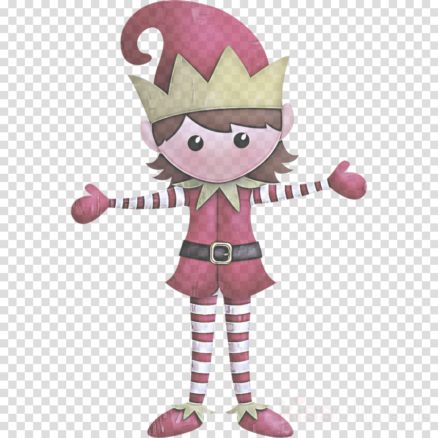 cartoon pink clip art fictional character mascot clipart.