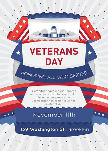 Poster OR Brochure Templates IN Veterans Day Beautiful.