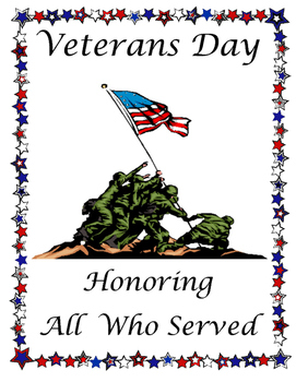 Veterans Day Program Cover.