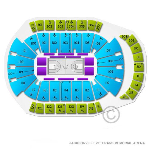 Jacksonville Veterans Memorial Arena Tickets.
