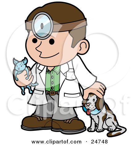Male veterinarian clipart.