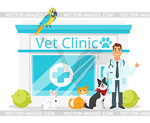 Vet clinic with doctor.