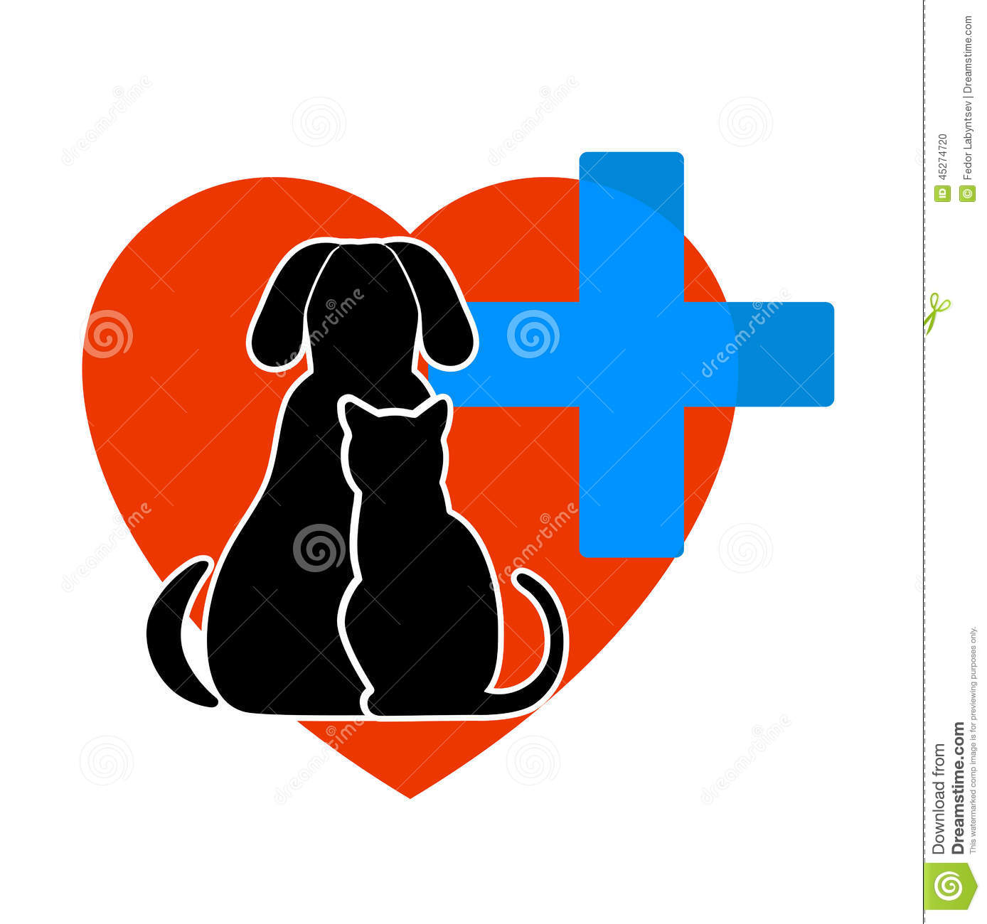 Dog, Cat On Veterinary Medicine Symbol Royalty Free Stock Images.