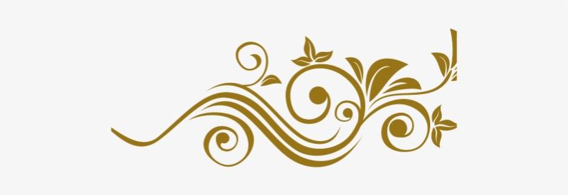 Arabesco Floral Png Dourado.