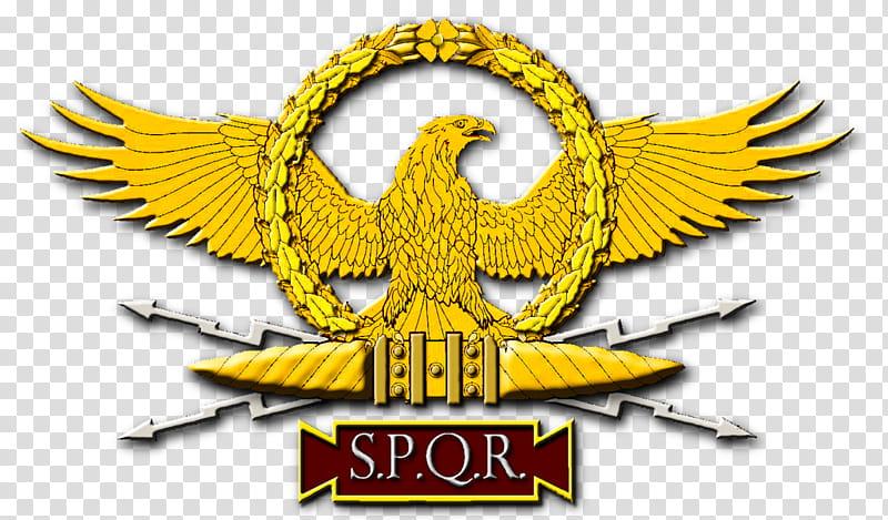 Roman Eagle and Vexillum, Peter Crawford transparent.