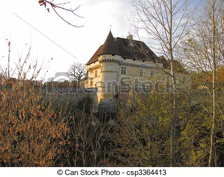 Stock Photos of Castle, Losse, Valley Vezere.