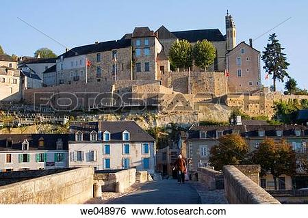 Stock Images of a bridge over Vezere river in Terrasson.