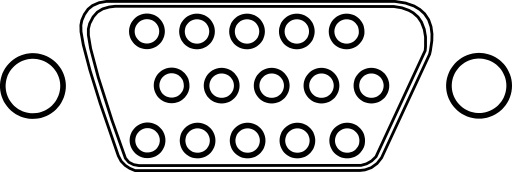 Vga Connector With 15 Poles Pins Clipart.