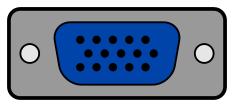 VGA port.