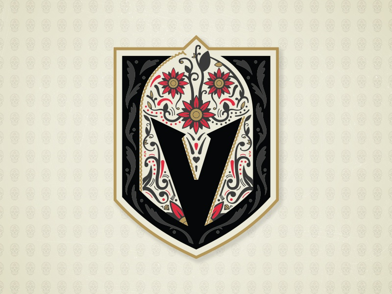 VGK 2019 Dia De Muertos Logo by Matthew McElroy on Dribbble.