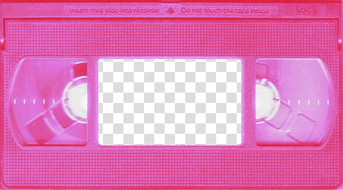 Grunge Devices s, pink VHS tape transparent background PNG.