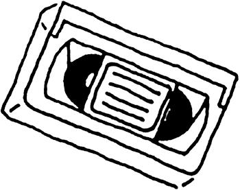 VHS tape.