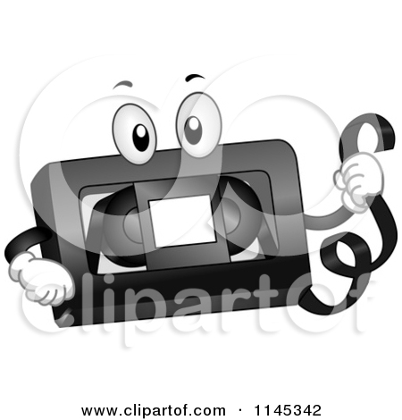 Cartoon of a VHS Tape Mascot.
