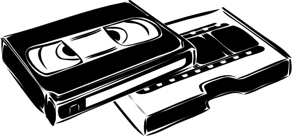 Vhs Cassette Video clip art Free vector in Open office.