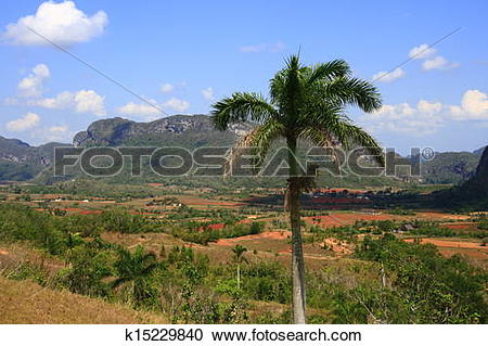Stock Photography of The Vinales Valley k15229840.