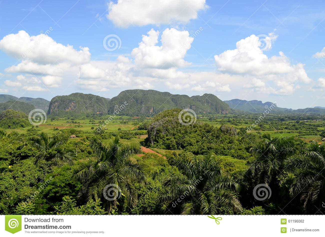 Viñales Valley From Los Jazmines Viewpoint (Pinar Del Rio, Cuba.