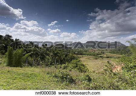 Pictures of Cuba, Pinar del Rio, view to Vinales Valley with.