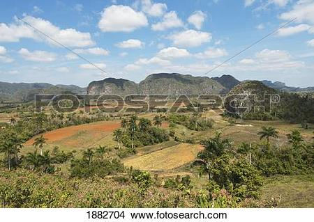 Stock Photo of Viñales Valley In Sierra De Los Organos; Viñales.