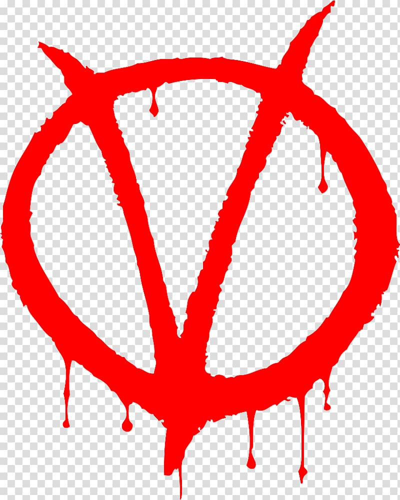 Evey Hammond V for Vendetta Guy Fawkes mask Logo, anonymous.
