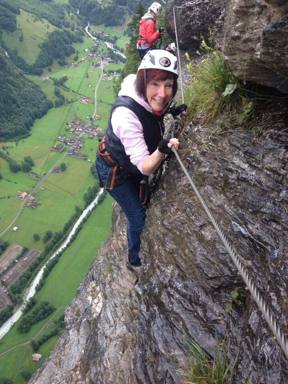 via Ferrata Murren, Switzerland.