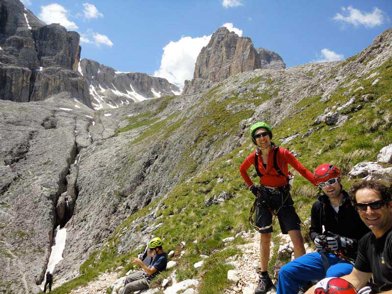 A road with irons: The Via Ferrata Tridentina in Italy's Dolomites.