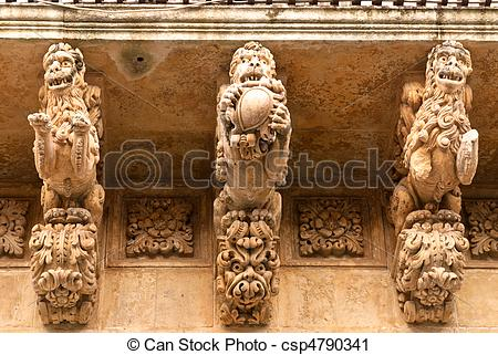 Stock Photography of Nicolaci Palace in Noto.
