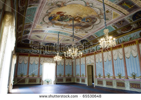 Noto, Siracusa, Sicily, Italy, Inside The Palace Nicolaci.