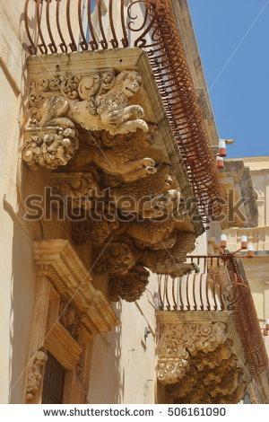 ancient Architecture Blue Castello Castiglione Di Sicilia Castle.