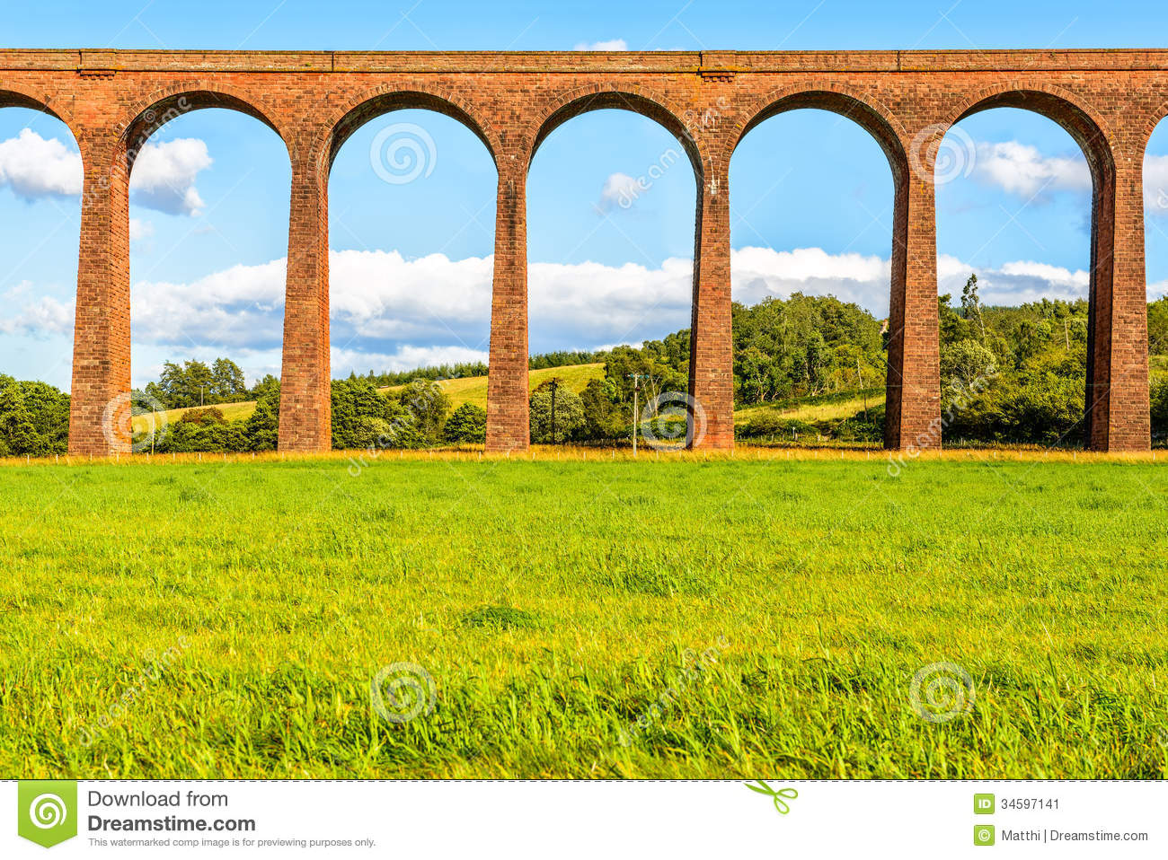 Culloden Viaduct, Scotland, UK Stock Image.