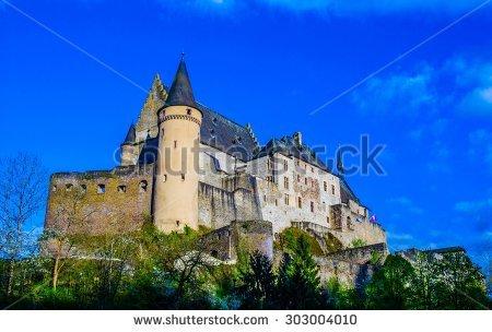 Vianden Castle Stock Photos, Royalty.
