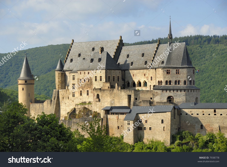 Castle Vianden Luxembourg Europe Stock Photo 7938778.